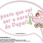Plaquinhas Divertidas Chá de Bebê Menina 11