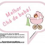 Plaquinhas Divertidas Chá de Bebê Menina 12