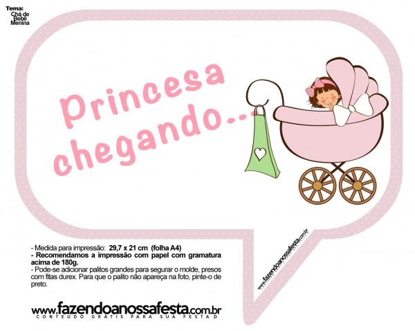 Plaquinhas Divertidas Chá de Bebê Menina 14