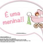 Plaquinhas Divertidas Chá de Bebê Menina 17