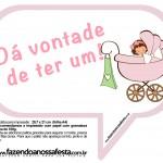 Plaquinhas Divertidas Chá de Bebê Menina 21