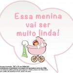 Plaquinhas Divertidas Chá de Bebê Menina 27