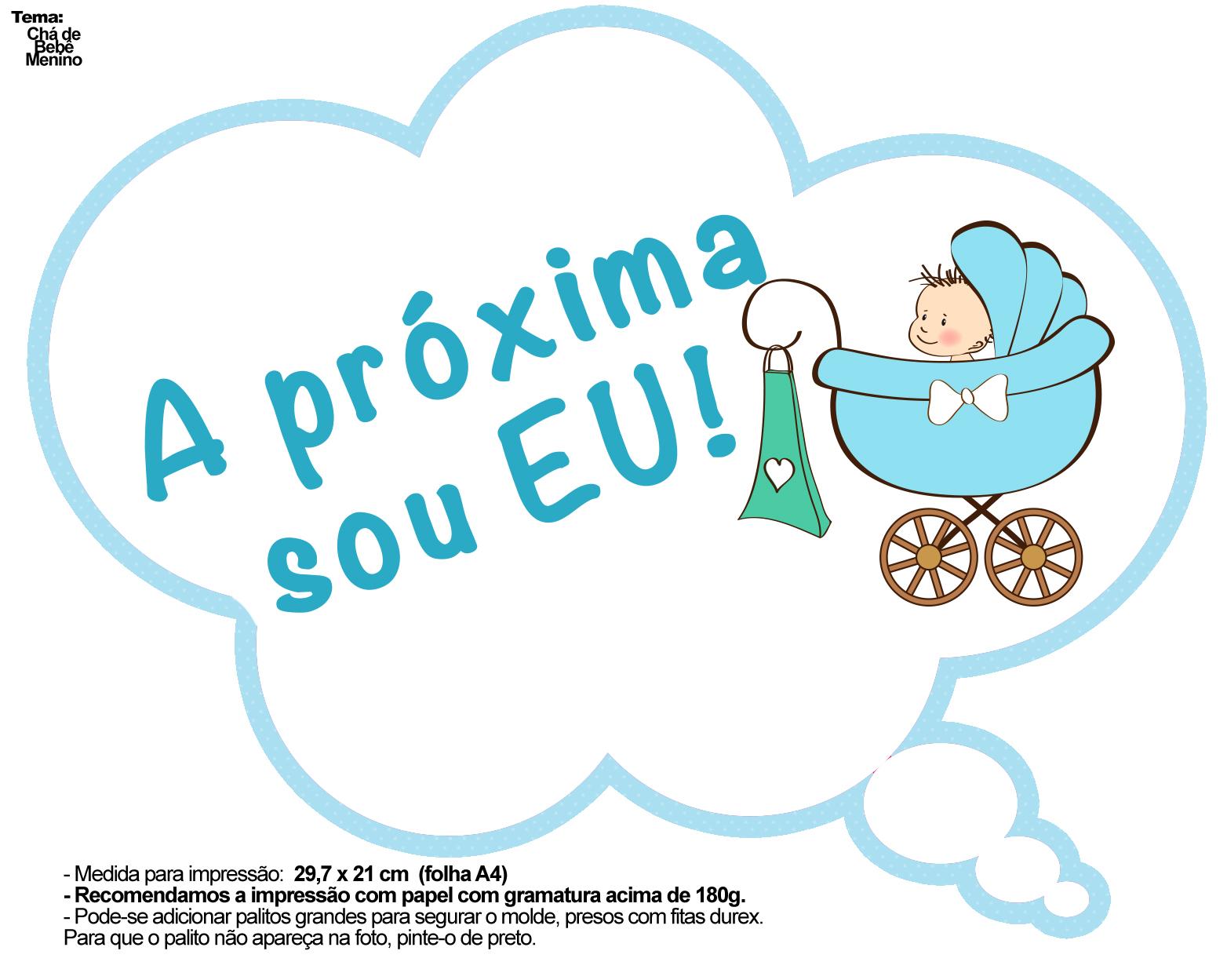Excepcional Plaquinhas Divertidas Chá de Bebê Menino 1 - Fazendo a Nossa Festa YT01