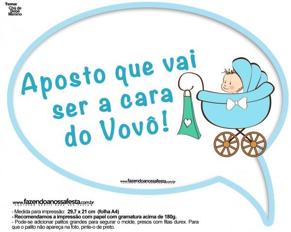 Plaquinhas Divertidas Chá de Bebê Menino 4