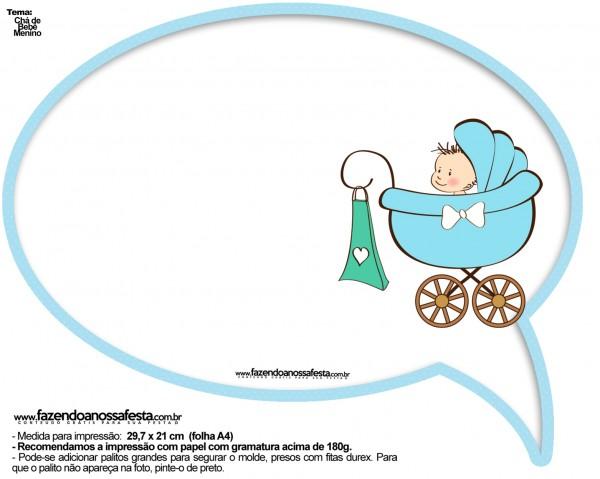 Plaquinhas Divertidas Chá de Bebê Menino 23