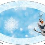 Placa Elipse Olaf Frozen