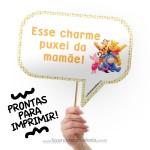Plaquinhas Divertidas Ursinho Pooh!