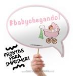 Plaquinhas Divertidas Chá de Bebê Menina!