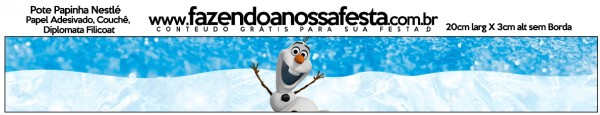 Pote Papinha Olaf Frozen