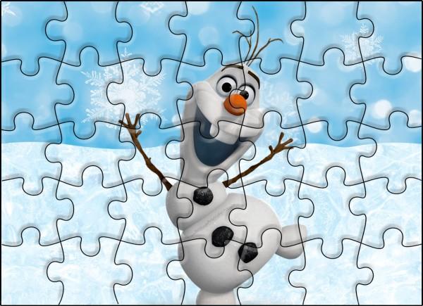Quebra-cabeça Olaf Frozen