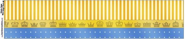 Rótulo Água Fundo Príncipe Azul e Dourado
