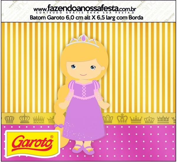 Rótulo Batom Garoto Princesa Loira