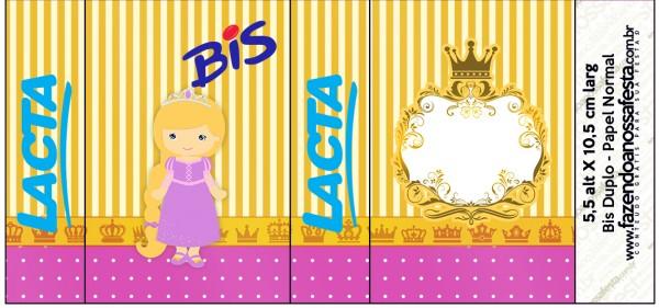 Rótulo Bis Duplo Princesa Loira