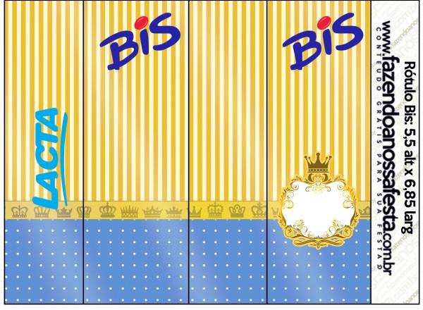 Rótulo Bis Fundo Príncipe Azul e Dourado