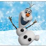 Rótulo Espumante Olaf Frozen
