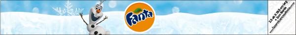 Rótulo Fanta Olaf Frozen