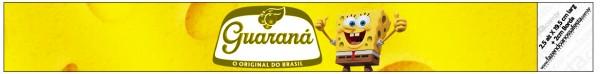 Rótulo Guaraná Caçulinha Bob Esponja - Um Herói Fora D'Água