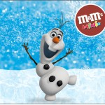 Rótulo Mini M&M Olaf Frozen