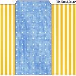 Rótulo Tic Tac Fundo Príncipe Azul e Dourado