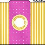 Rótulo Tic Tac Princesa Loira.