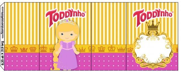 Rótulo Toddynho Princesa Loira
