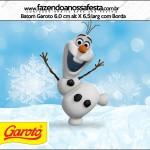 Rótulo batom Garoto Olaf Frozen