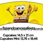 Saias Wrappers para Cupcakes 2 Bob Esponja - Um Herói Fora D'Água