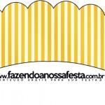 Saias Wrappers para Cupcakes 2 Fundo Príncipe Azul e Dourado