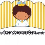 Saias Wrappers para Cupcakes 2 Príncipe Afro