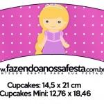 Saias Wrappers para Cupcakes Princesa Loira 2