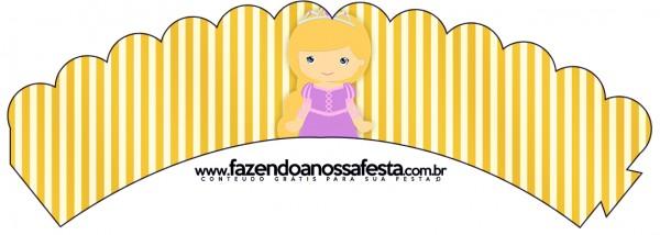 Saias Wrappers para Cupcakes Princesa Loira