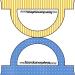 Saquinho de Balas Fundo Príncipe Azul e Dourado