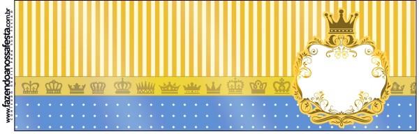 Squezze Fundo Príncipe Azul e Dourado