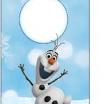 Tag Agradecimento Olaf Frozen