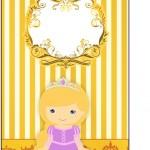 Tag Agradecimento Princesa Loira