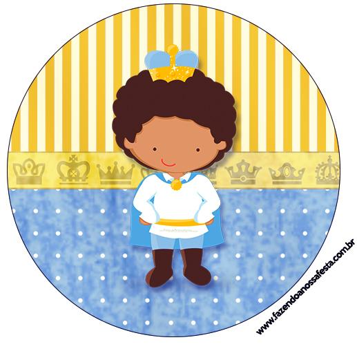Tubetes, Toppers e Latinhas Príncipe Afro