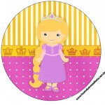 Tubetes, Toppers e Latinhas Princesa Loira