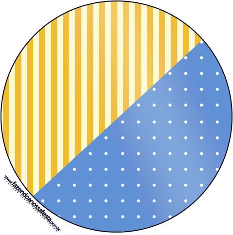 Tubetes, Toppers e Tubetes Fundo Príncipe Azul e Dourado