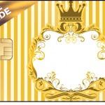 Vale Brinde Fundo Príncipe Azul e Dourado