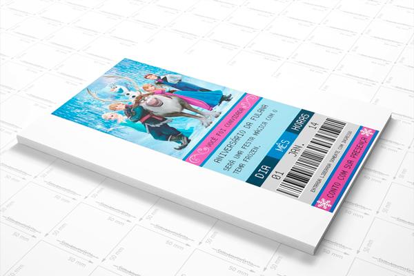 Frozen Convite Ingresso Cinema