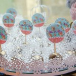 Toppers Festa Floral Vintage Azul e Rosa da Alice Marina