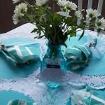 Centro de Mesa Festa 15 anos Azul Tiffany