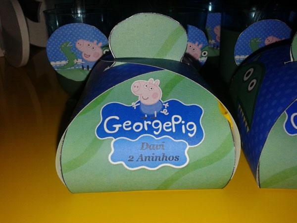 Caixa Festa George Pig do Davi