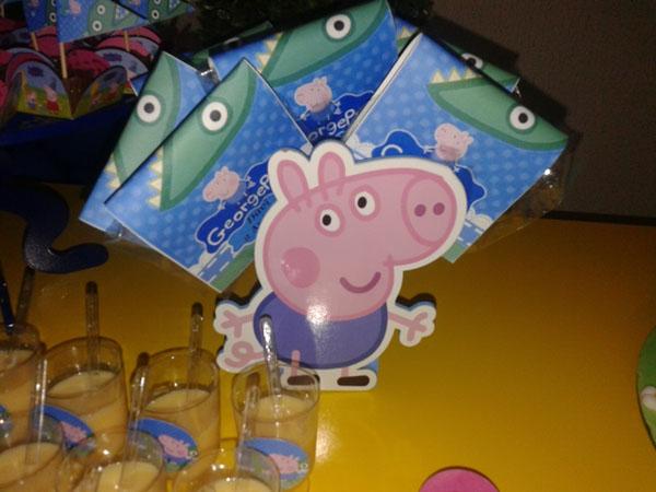 Rótulo Pirulito Festa George Pig do Davi