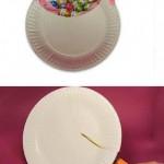 Ideias para Páscoa - Cesta com pratos Plásticos