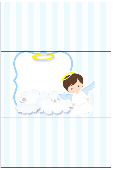 Bala Personalizada Batizado Azul Claro