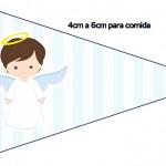 Bandeirinha Sanduiche 3 Batizado Azul Claro