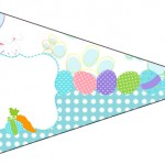 Bandeirinha Sanduiche 3 Páscoa Coelhinho Cute Azul