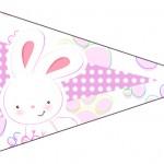 Bandeirinha Sanduiche 4 Páscoa Coelhinho Cute Rosa