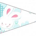 Bandeirinha Sanduiche 5 Páscoa Coelhinho Cute Azul